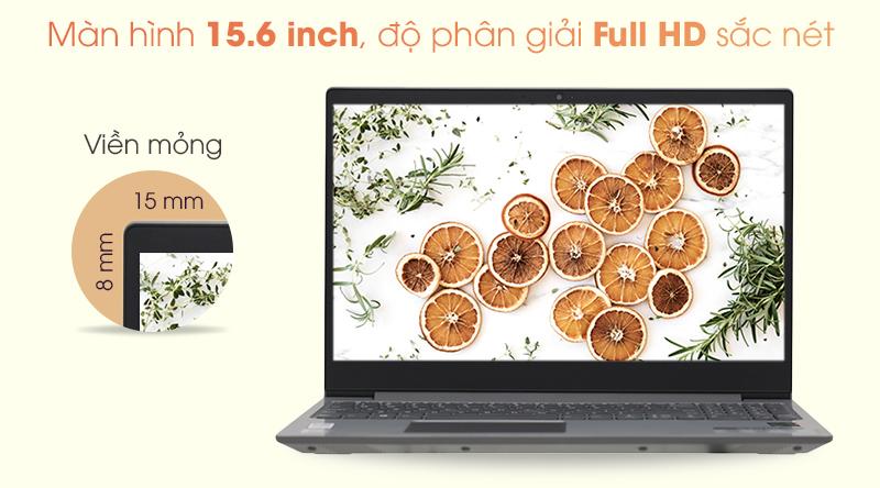 Laptop Lenovo trang bị màn hình 15.6 inch Full HD