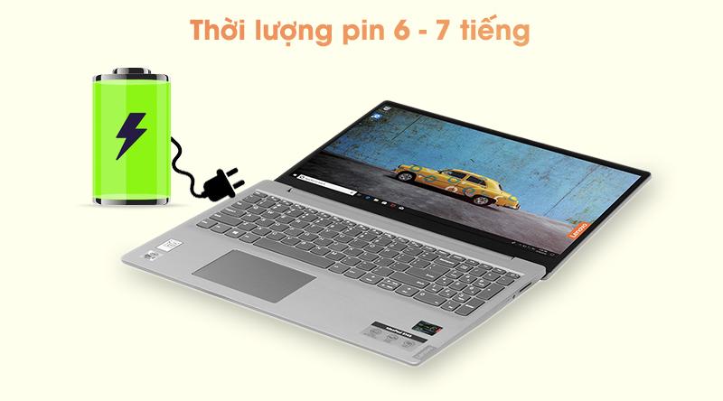 Pin của Lenovo IdeaPad sử dụng được khoảng 6 - 7 giờ