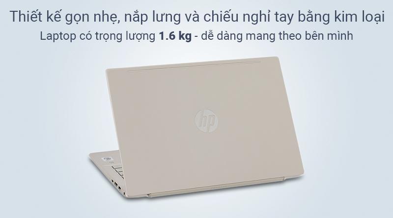 Laptop HP Pavilion có vẻ ngoài bắt mắt, lớp vỏ nhựa - nắp lưng bằng kim loại