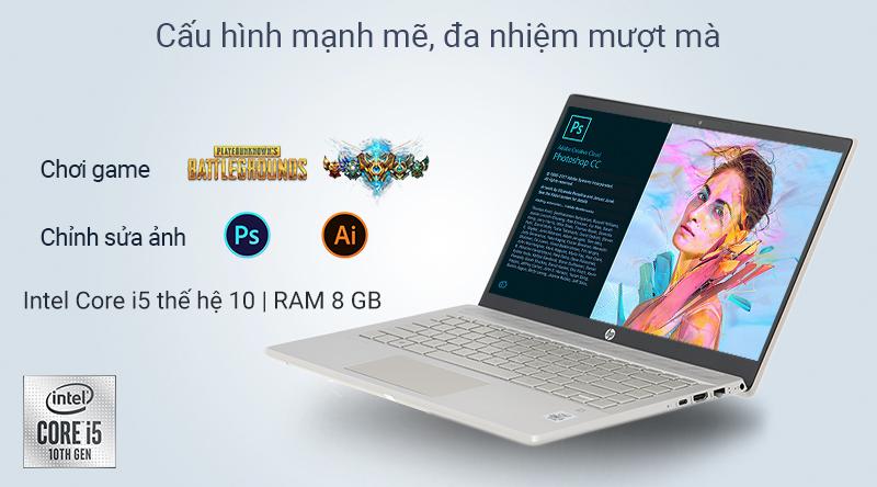 Laptop HP Pavilion 14 ce3027TU sở hữu chip Intel Core i5 thế hệ 10