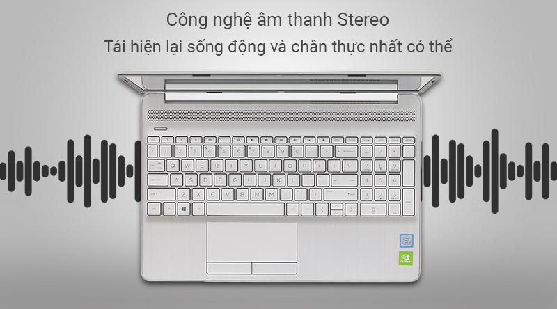Laptop HP 15s du0072TX cho âm thanh được phát ra từ nhiều hướng