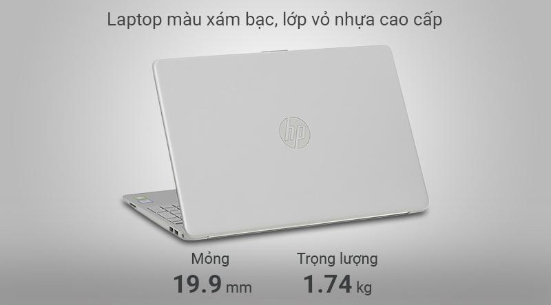 Laptop HP 15s du0072TX có trọng lượng 1.74 kg và độ dày 19.9 mm