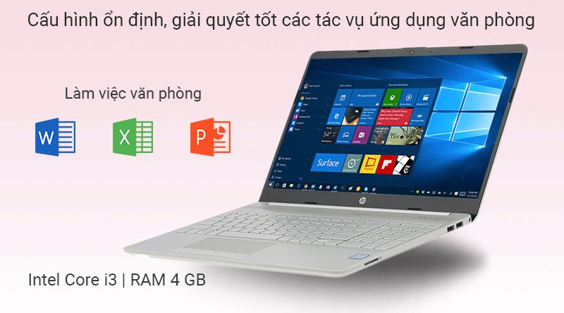 Laptop HP 15s du0116TU i3 trang bị cấu hình văn phòng
