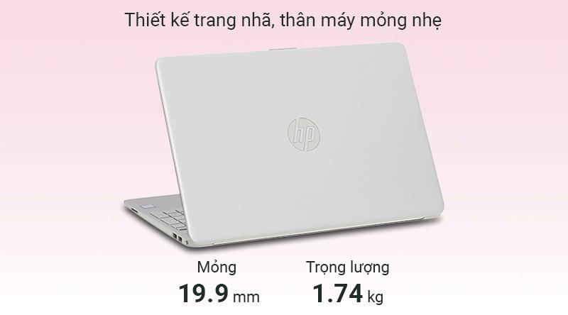 Laptop HP 15s du0116TU i3 thiết kế gọn gàng
