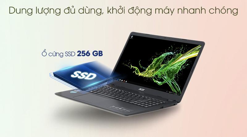 Laptop Acer Aspire A315 i5 (NX.HM2SV.002) - Khởi động nhanh, dung lượng lưu trữ đủ dùng