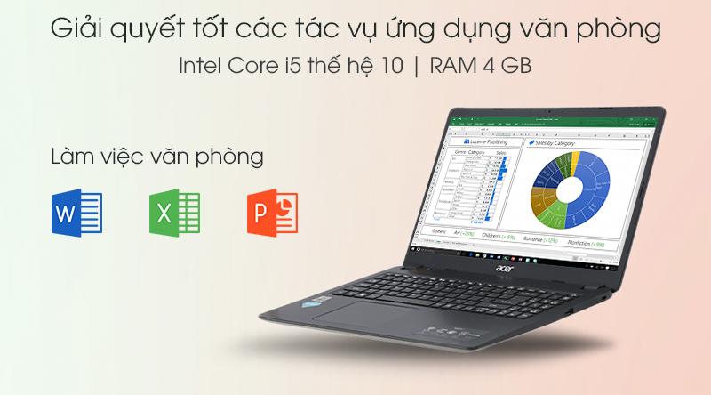 Laptop Acer Aspire A315 i5 (NX.HM2SV.002) được cài đặt sẵn hệ điều hành Windows 10