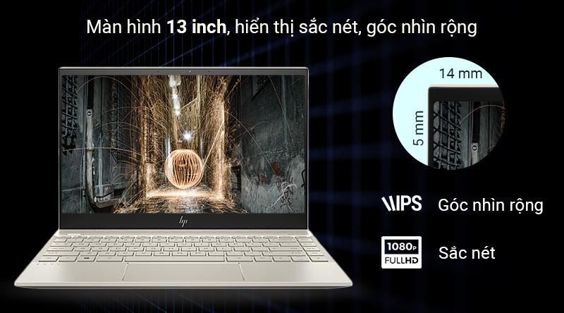 Laptop HP Envy 13 aq1022TU i5 trải nghiệm màn hình tràn viền
