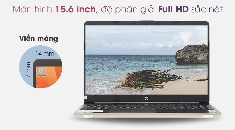 Màn hình laptop rộng 15.6 inch, độ phân giải Full HD