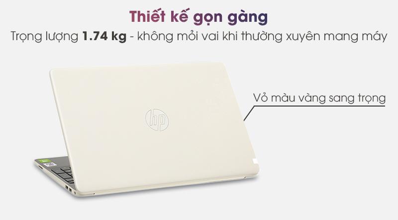 Laptop HP 15s du1039TX (8RK39PA) có trọng lượng 1.74 kg