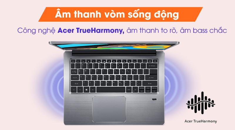Laptop Acer Swift 3 SF314 57 52GB i5 âm thanh vòm sống động