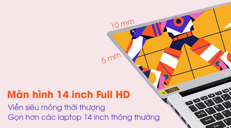 Laptop Acer Swift 3 SF314 57 52GB i5 màn hình viền siêu mỏng