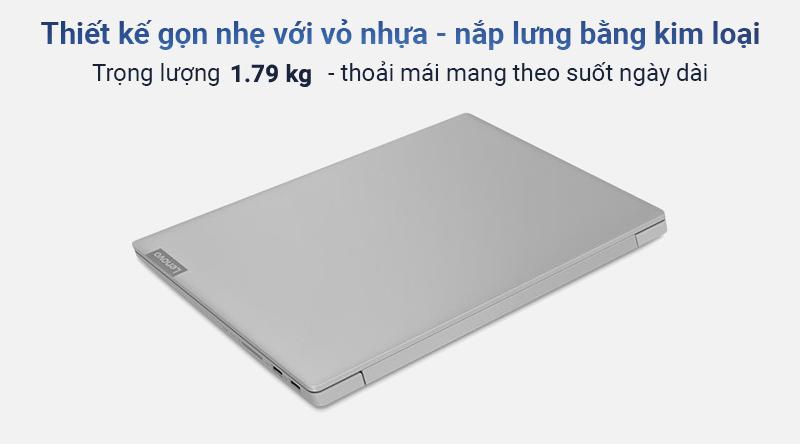 Chiếc máy tính với lớp vỏ nhựa - nắp lưng bằng kim loại có trọng lượng 1.79 kg