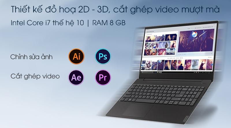 Laptop Lenovo IdeaPad S340 15IIL i7 với dòng chip thế hệ 10