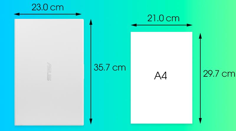 Kích thước Asus VivoBook A512FA