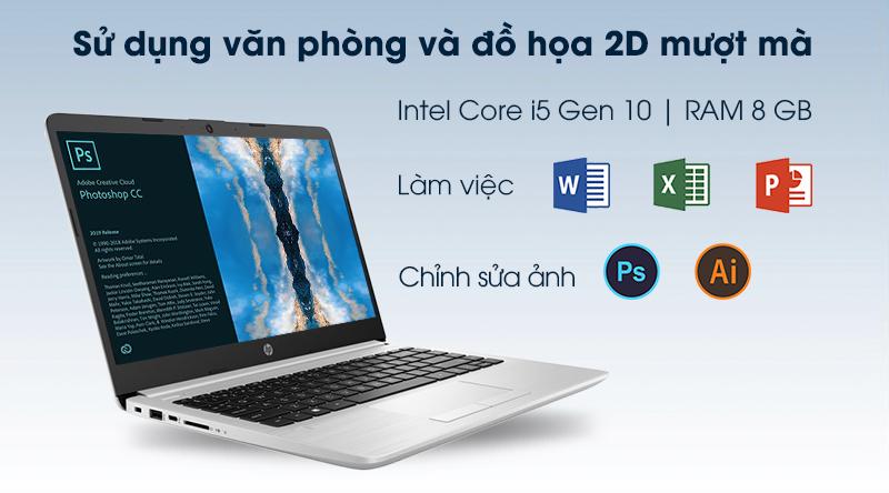 CPU Intel Core i5 thế hệ thứ 10 và dung lượng RAM 8 GB