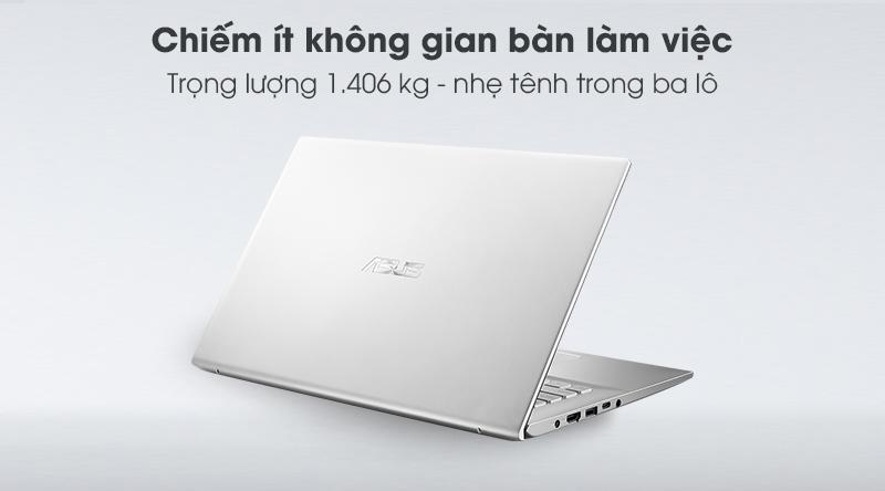 Viền màn hình mỏng và cân đối cùng với trọng lượng 1.406 kg