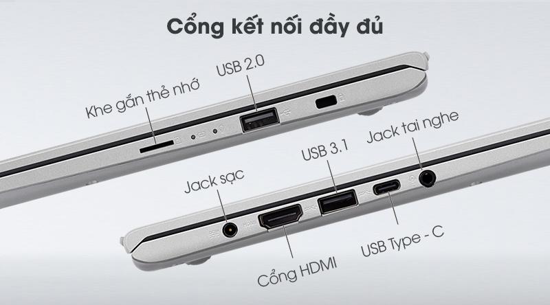 VivoBook 14 được trang bị các cổng giao tiếp