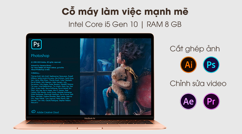 MacBook Air 2020 | Chip 4 nhân - Intel Core i5 thế hệ 10