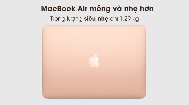 MacBook Air 2020 | Trọng lượng 1.29 kg