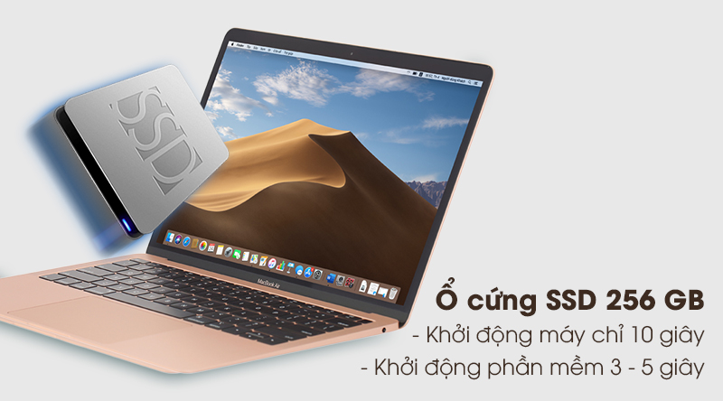 MacBook Air 2020 | Ổ cứng SSD 256 GB
