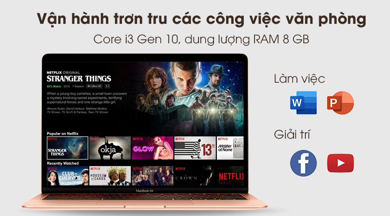 MacBook Air 2020 i3 | CPU Intel Core i3 thế hệ 10