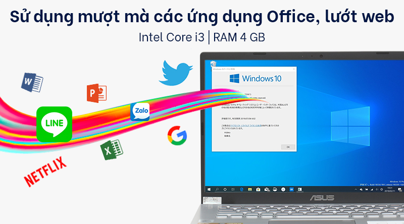 Laptop ASUS VivoBook X409JA i3 (EK015T) sử dụng con chip Core i3 1005G1
