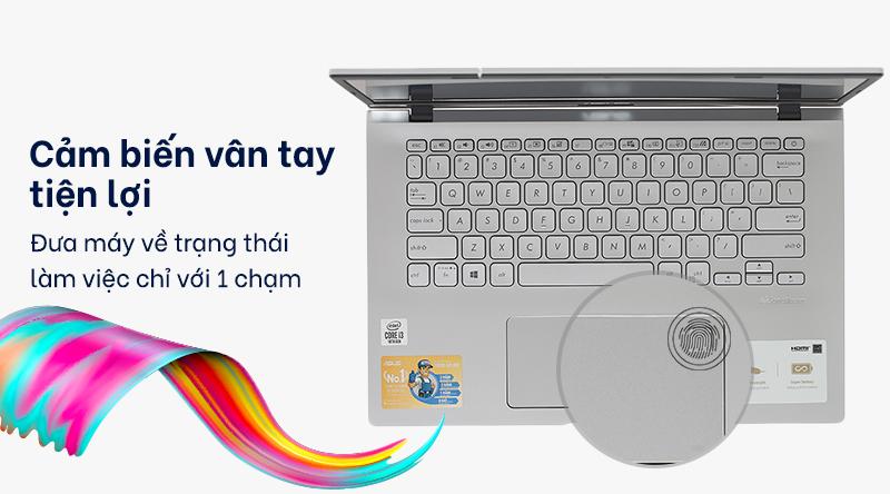 Laptop ASUS VivoBook X409JA i3 (EK015T)  trang bị cảm biến vân tay