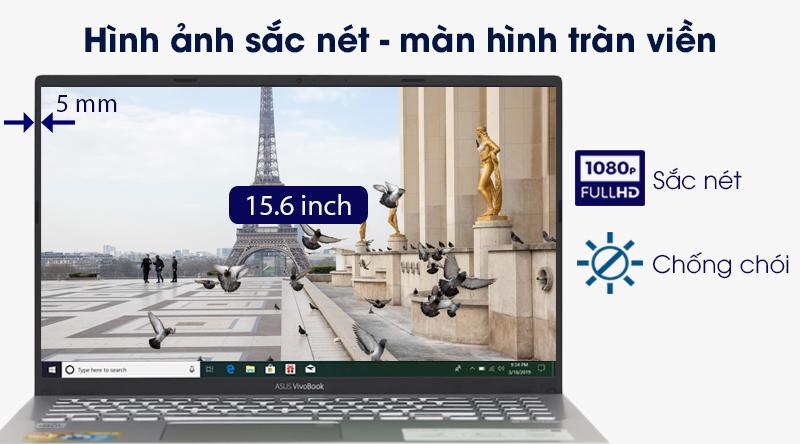Laptop ASUS VivoBook A512FA i3 trang bị màn hình viền mỏng