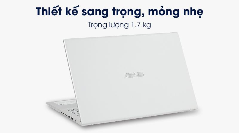 Laptop ASUS VivoBook A512FA i3 có thiết kế sang trọng, hiện đại