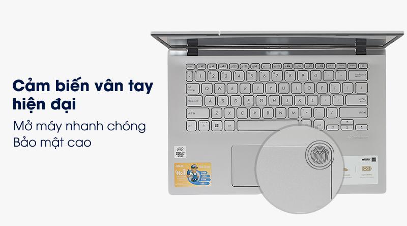 Laptop ASUS VivoBook A512FA i3 bảo mật vân tay an toàn