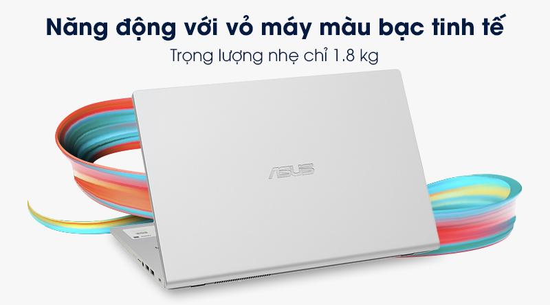 Laptop Asus VivoBook X509FA có trọng lượng tổng thể chỉ 1.8 kg