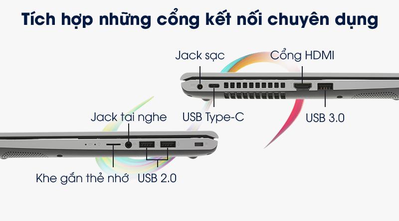 Laptop Asus VivoBook X509FA đầy đủ các cổng kết nối đa dụng