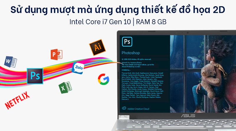 Laptop ASUS VivoBook X509JA sử dụng CPU Intel Core i7