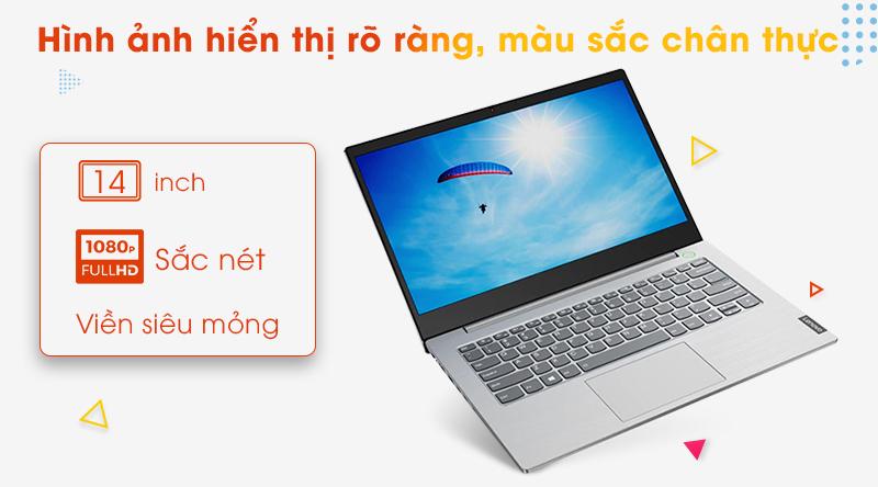 Laptop Lenovo ThinkBook 14IML có màn hình kích thước tiêu chuẩn 14 inch