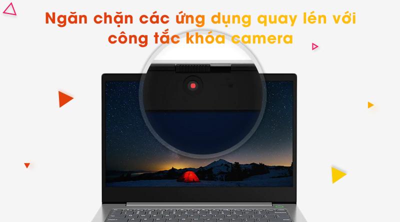 Lenovo ThinkBook 14 IML  được trang bị cả công tắc khóa camera