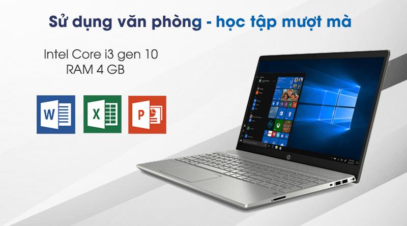 Laptop HP Pavilion 15 cs3010TU có cấu hình đủ dùng văn phòng
