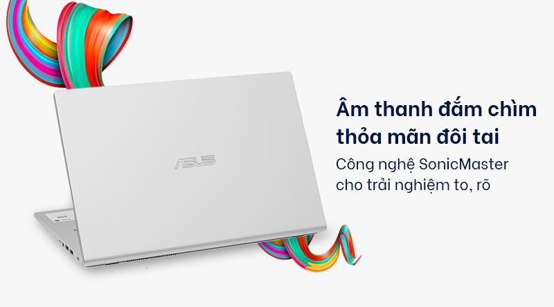Laptop Asus VivoBook X409JA cho âm thanh  to, rõ