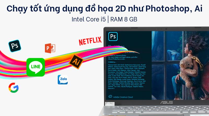 Laptop Asus VivoBook X409JA trang bị chip Core i5