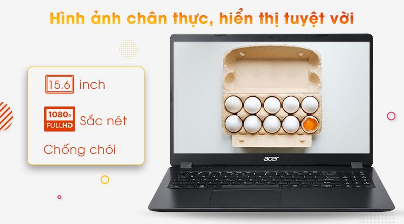 Laptop Acer Aspire A315 mang đến chất lượng hiển thị tuyệt vời