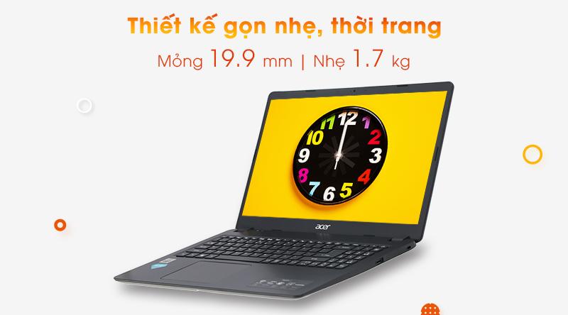 Laptop Acer Aspire A315 có thiết kế theo phong cách đơn giản