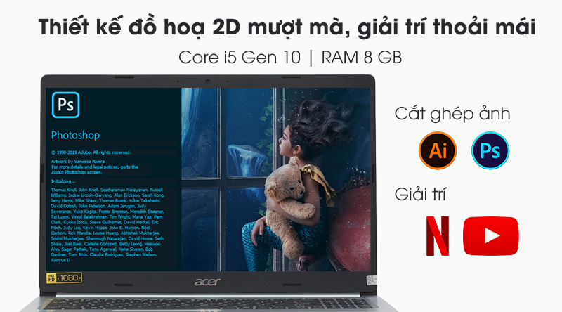 Laptop Acer Aspire A515 | Core i5 thế hệ 10