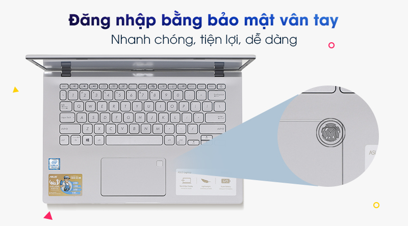 Laptop Asus VivoBook X409FA | Vân tay