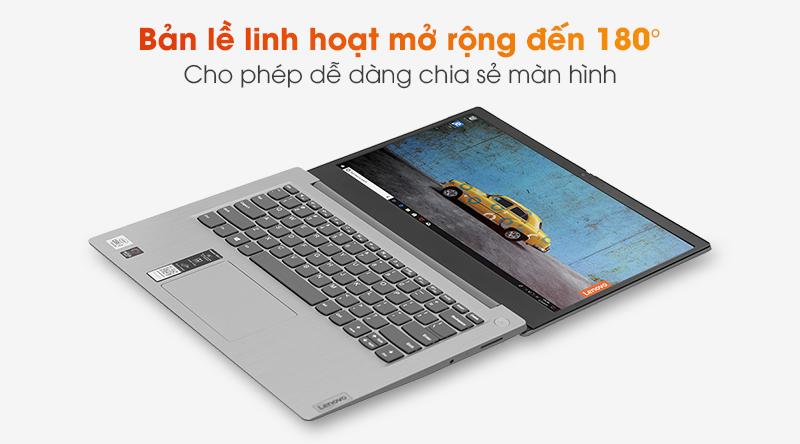 Lenovo IdeaPad 3 14IIL05 có thiết kế bản lề gập mở 180 độ