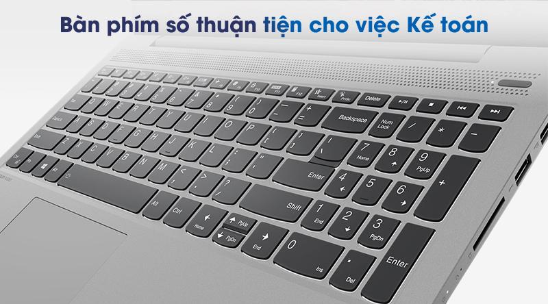 Lenovo IdeaPad 5 15IIL05 (81YK004UVN) | Hàng phím số được thiết kế riêng biệt