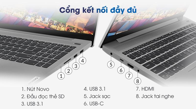 Lenovo IdeaPad 5 15IIL05 (81YK004UVN) | Cổng giao tiếp thông dụng