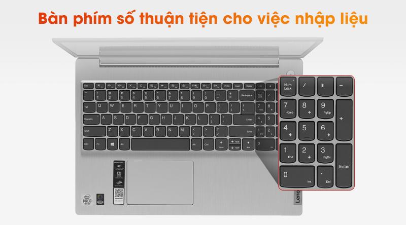 Laptop Lenovo IdeaPad 3 15IIL05 dễ dàng nhập liệu