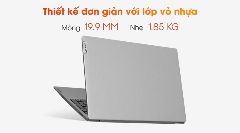 Laptop Lenovo IdeaPad 3 15IIL05 gọn nhẹ, sang trọng