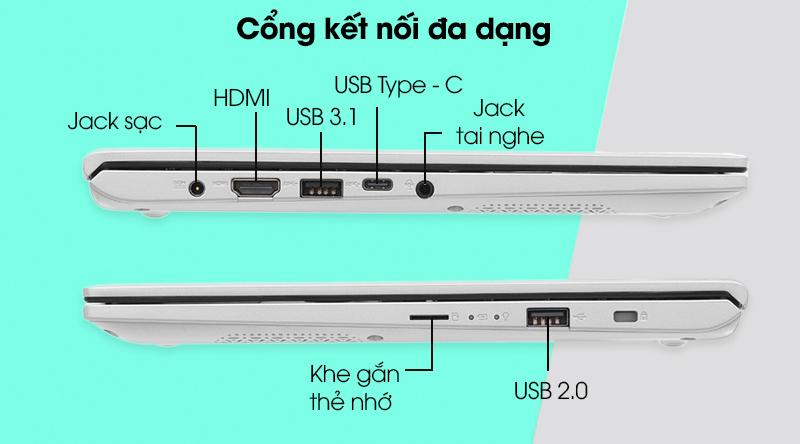 Cổng kết nối Asus VivoBook A412FA i3