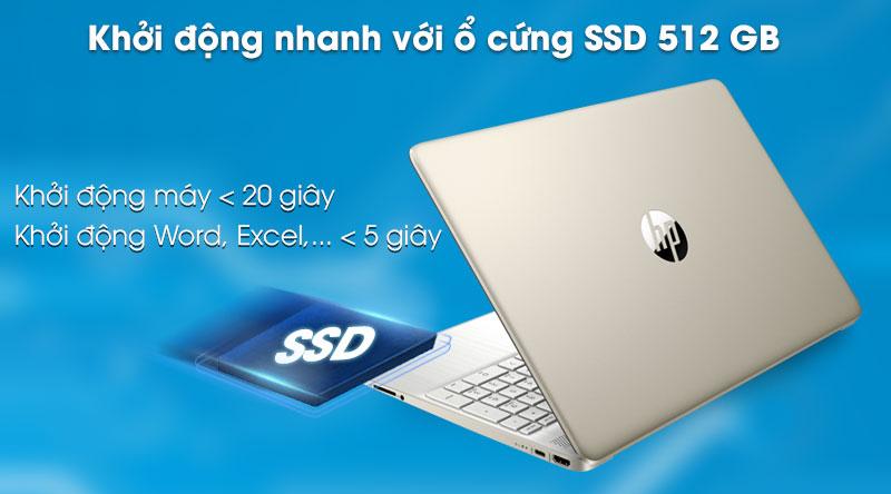 Laptop HP 15s fq0004TU (1A0D5PA) - Ổ cứng SSD