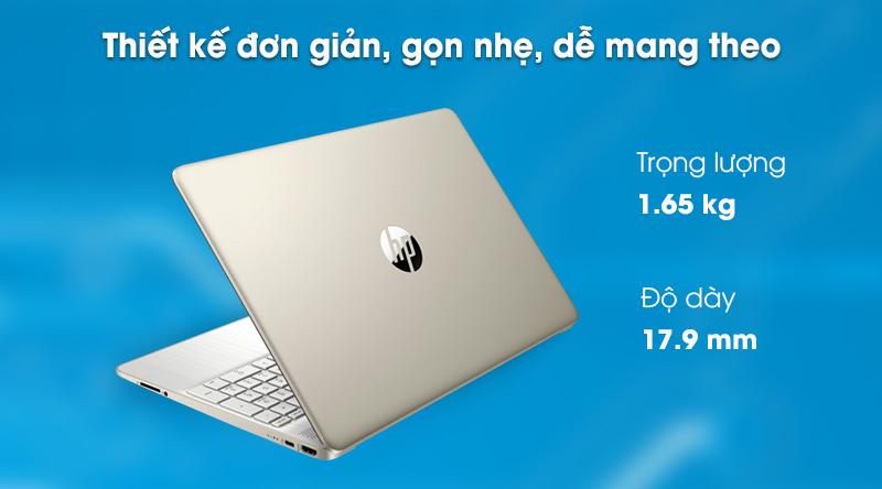 Laptop HP 15s fq0004TU (1A0D5PA) - Thiết kế